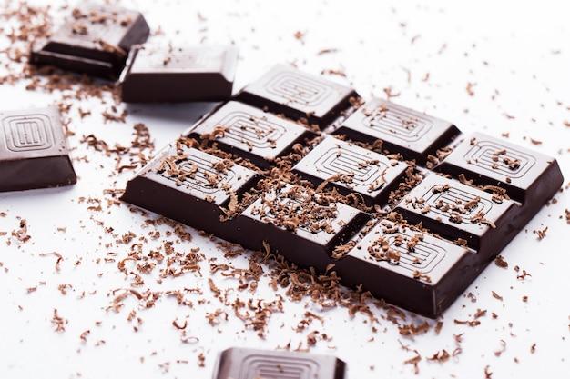 Barra de chocolate negro Foto gratis