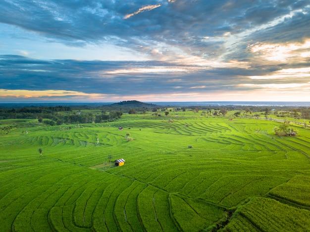 Belleza natural puesta de sol en la isla de sumatra indonesia asia Foto Premium