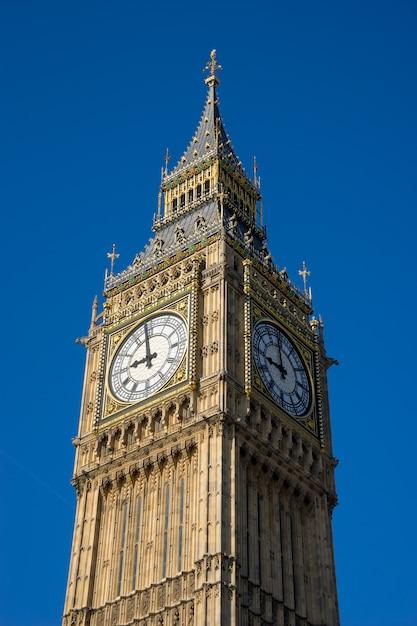 Big ben y casa del parlamento en londres, inglaterra, reino unido. Foto Premium
