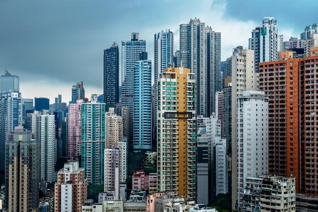 Bloque de apartamentos en hong kong Foto gratis