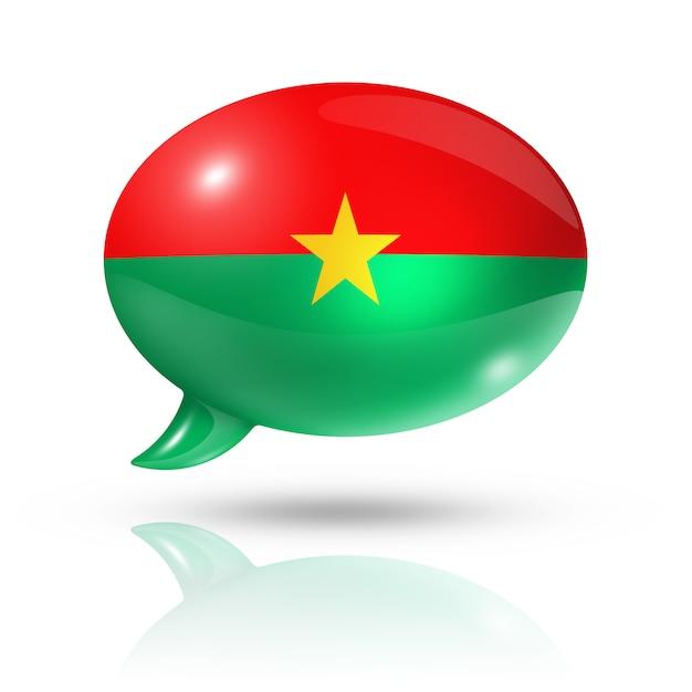 Bocadillo de diálogo de bandera de burkina faso Foto Premium