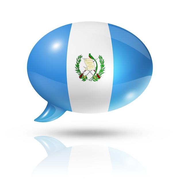 Bocadillo de diálogo de bandera guatemalteca Foto Premium