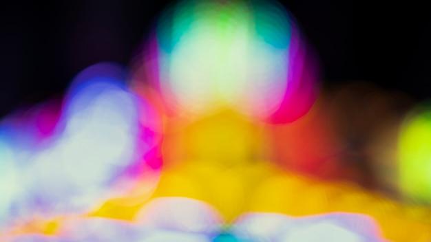 Bokeh abstracto noche con luces de neón de la ciudad Foto gratis