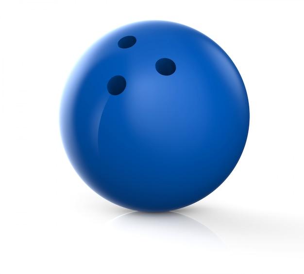Bola de bolos azul Foto Premium