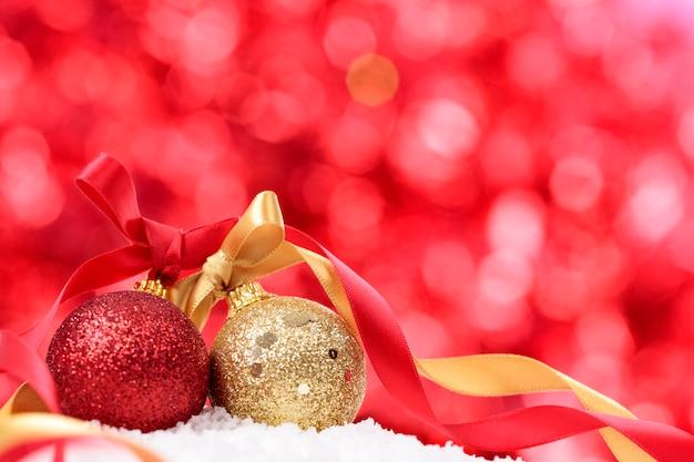 Bolas de navidad roja y dorada descargar fotos gratis - Bolas de navidad doradas ...