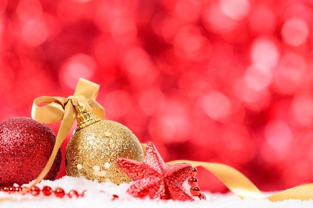 Bolas de navidad rojas y doradas descargar fotos gratis - Bolas de navidad doradas ...
