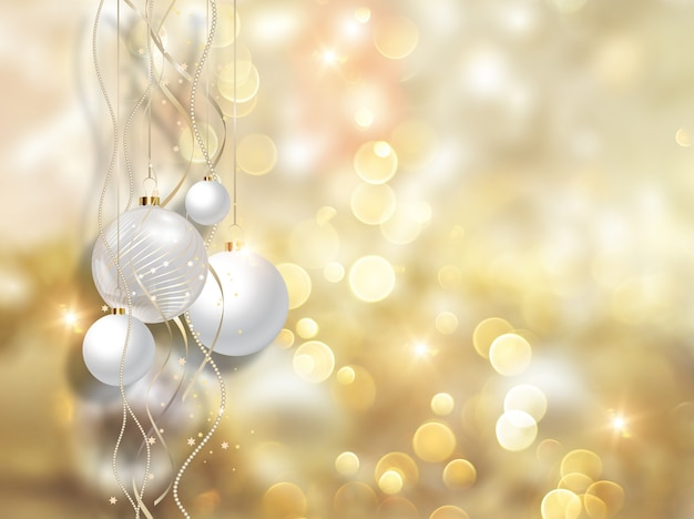 Bolas de navidad y luces doradas descargar fotos gratis - Bolas de navidad doradas ...