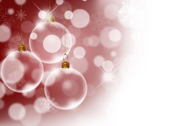 Bolas transparentes de navidad con fondo bokeh descargar - Bolas navidad transparentes ...