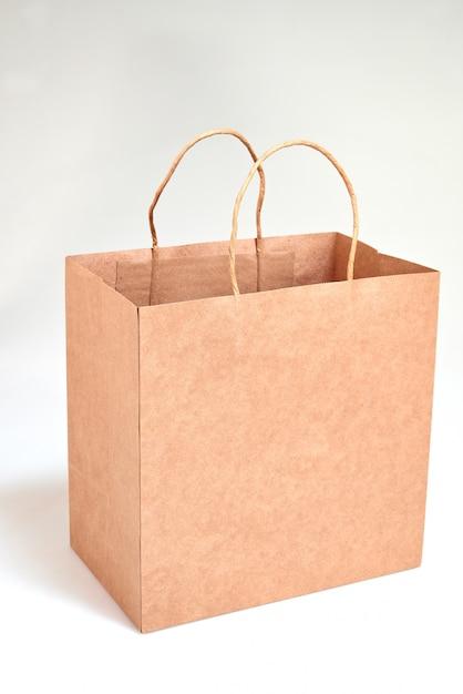 Bolsa De Compras De Papel Reciclado De Lujo Foto Premium