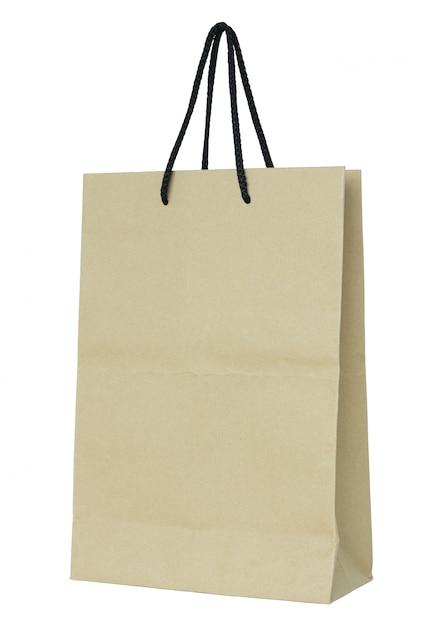 d66fc8b82 Bolsa de papel marrón aislada en blanco con trazado de recorte | Descargar  Fotos premium