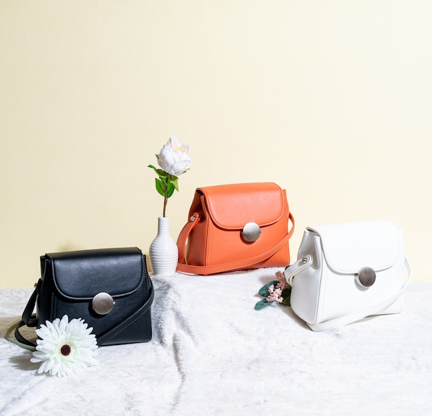 Bolso de mujer en piel Foto Premium