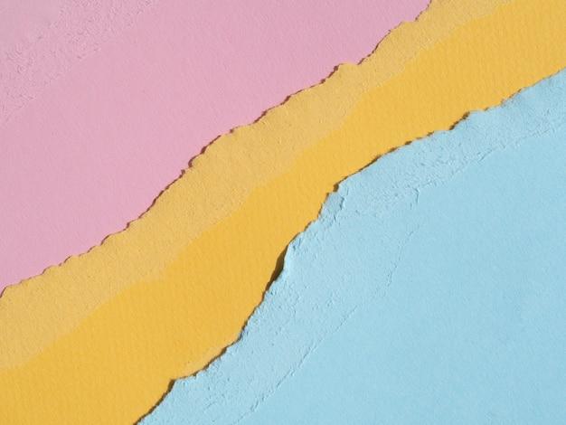 Bordes de papel rasgados abstractos planos Foto gratis