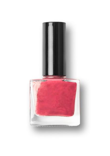 Botella de esmalte de uñas rojo sobre fondo blanco | Descargar Fotos ...