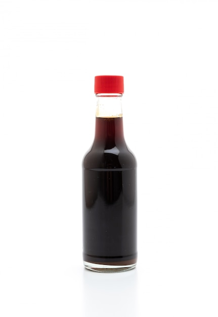 Botella de salsa de soja teriyaki Foto Premium