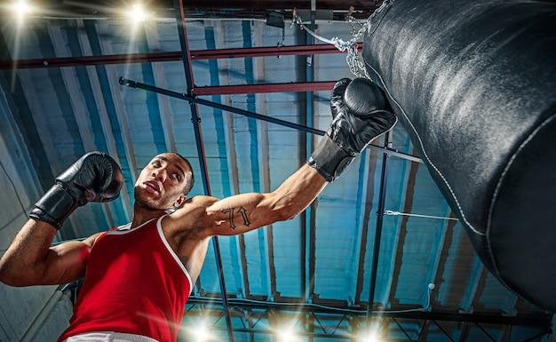 Boxer afroamericano masculino. Foto gratis