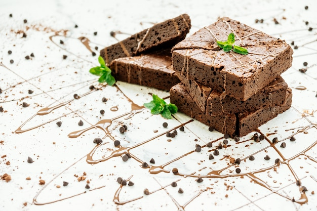 Brownies de chocolate Foto gratis