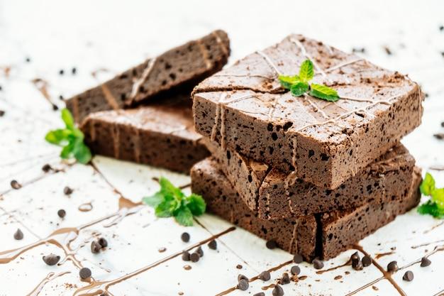 Brownies de chocolate Foto gratis