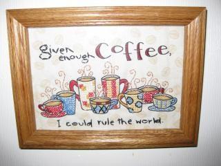 café de punto de cruz Foto Gratis