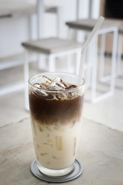 Café helado con leche de soja Foto Premium