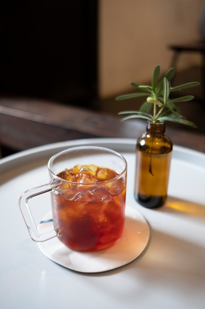 Café en vaso Foto gratis