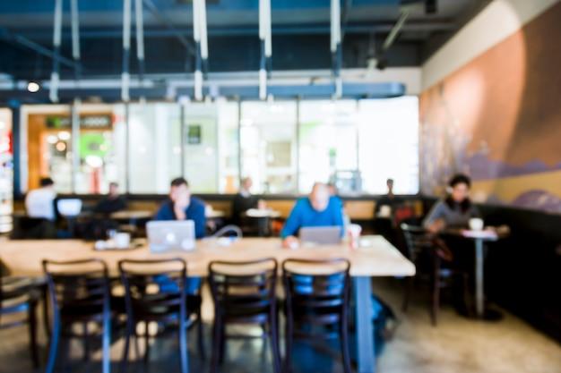 Cafetería con efecto borroso Foto gratis