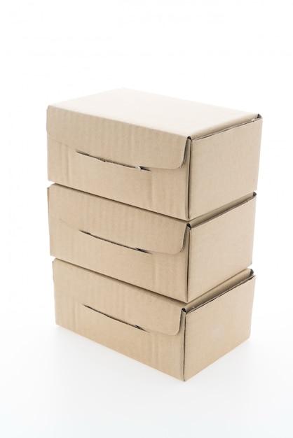 Caja marrón maqueta Foto gratis