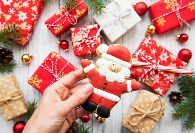 Cajas de regalo de navidad Foto Premium