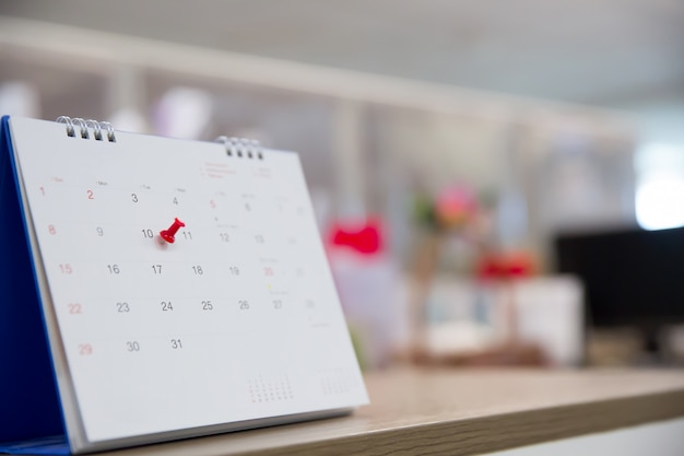 Calendario para el evento del planificador de negocios, agenda, calendario, planificación, reservas, calendario, recordatorio de pago. Foto Premium