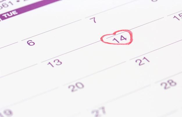 Marca Calendario.Calendario Con Marca Roja El 14 De Febrero De 2019 Descargar Fotos