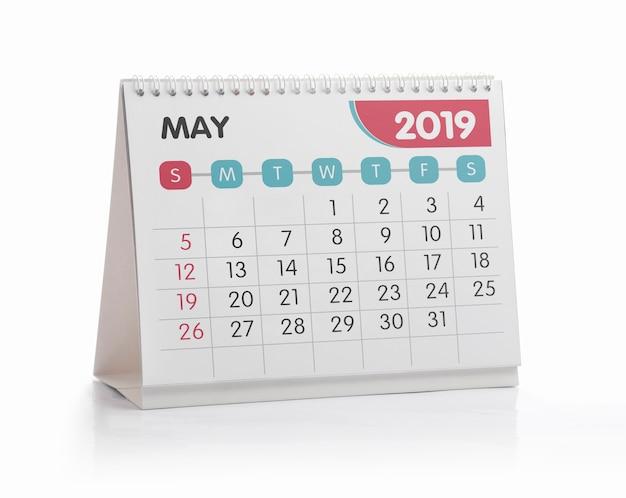 Calendario Mayo2019.Calendario De La Oficina Blanca De Mayo 2019 Aislado En Blanco
