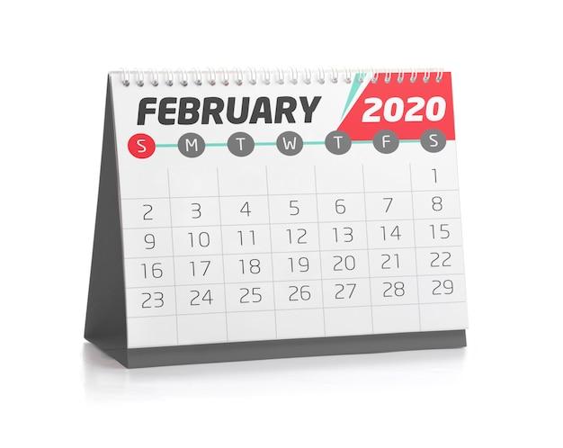 Febrero 2020 Calendario.Calendario De Oficina Febrero 2020 Descargar Fotos Premium