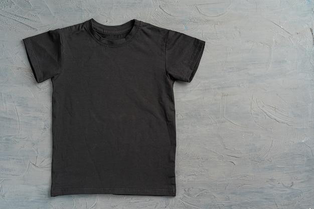 Camiseta lisa de color negro con espacio de copia Foto Premium