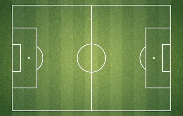 Campo de fútbol desde arriba Foto Premium