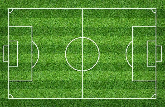 Campo de fútbol o campo de fútbol para el fondo Foto Premium