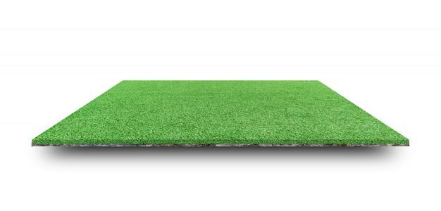 Campo de hierba verde aislado. Foto Premium