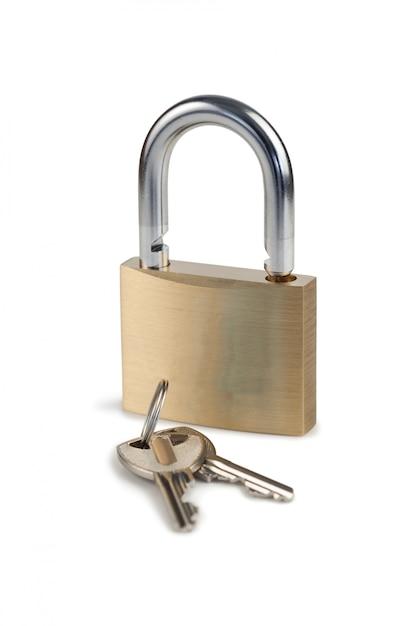 Candado y llaves Foto Premium