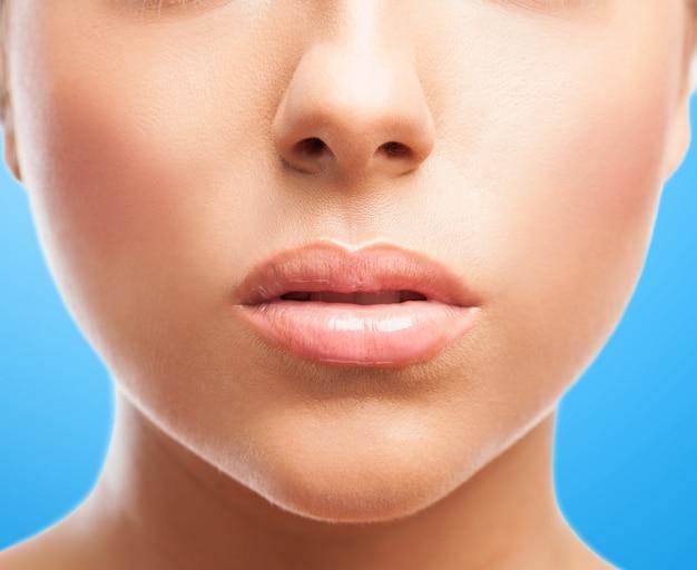 Cara perfecta con labios gruesos Foto gratis