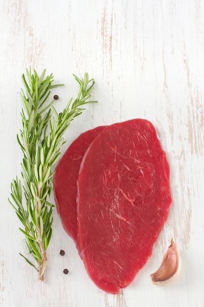 Carne con romero Foto Premium