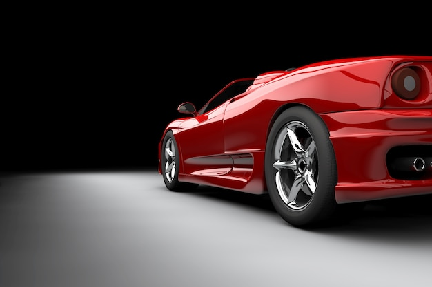 Carro rojo Foto Premium