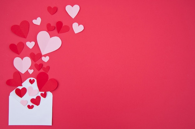 Carta de amor - concepto de san valentín Foto gratis