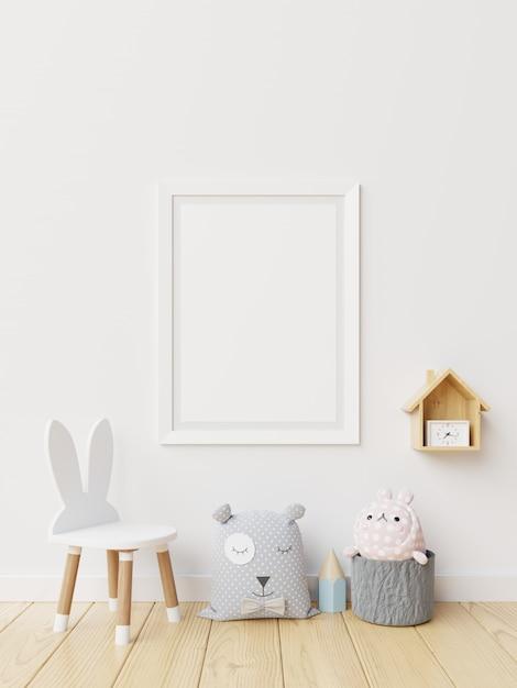 Cartel en el interior de la habitación infantil. Foto Premium