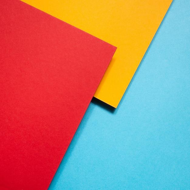 Cartones geométricos coloridos Foto gratis