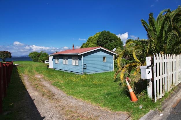 Casa en la ciudad de rotorua, nueva zelanda Foto Premium