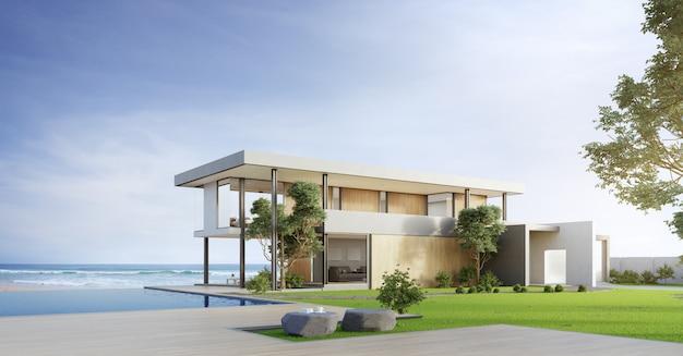 Casa De Playa De Lujo Con Piscina Y Terraza Con Vistas Al Mar
