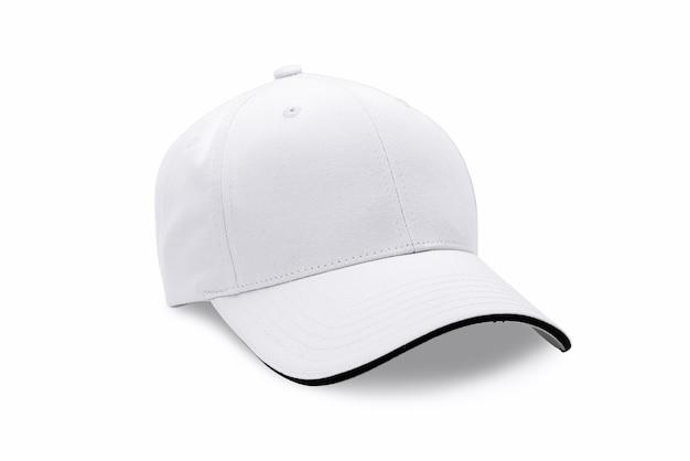 Casquillo aislado en el fondo blanco. gorra de beisbol. Foto Premium