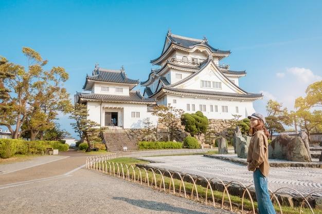 Castillo kishiwada en la ciudad de kishiwada, osaka Foto Premium