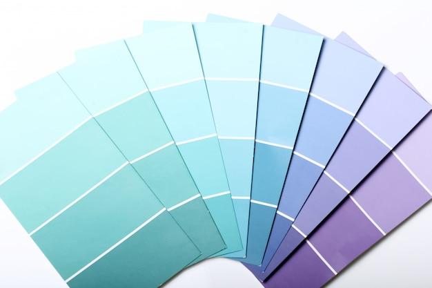 Catálogo o esquema de paleta de colores Foto gratis