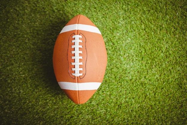 Cerca de pelota de rugby Foto Premium