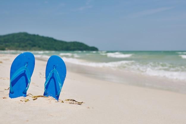 Chanclas azul brillante Foto Premium