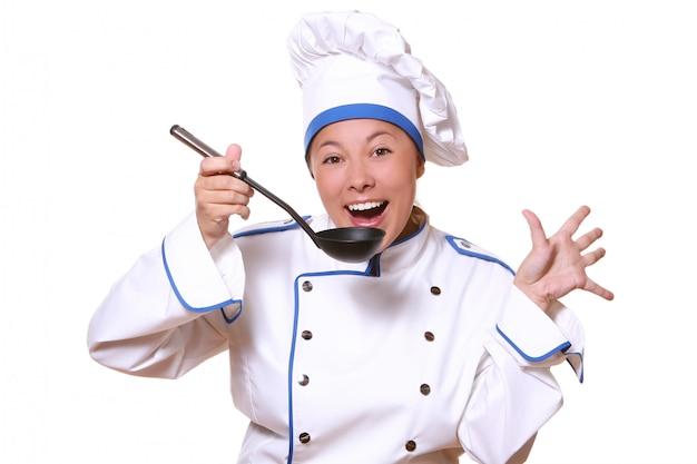Chef mujer cocinera Foto gratis